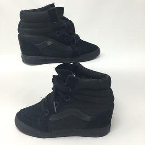 Vans Black Suede Wedge Sneaker